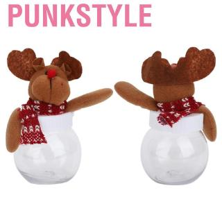 Punkstyle 6pcs Lovely Christmas Elk Candy Box Jar Sugar Bottle Xmas Decor Storage Can
