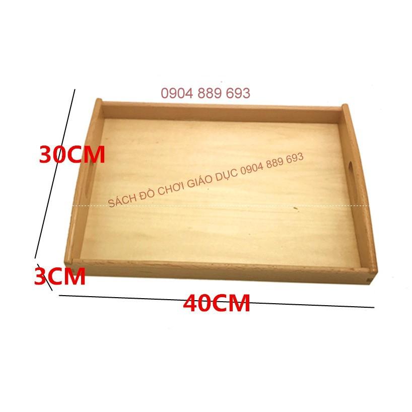 Khay đựng đồ Montessori cỡ to, kích thước 40x30x3cm