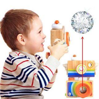 Đồ chơi gỗ. Máy chụp hình quà tặng cho bé siêu hấp dẫn và tuyệt vời