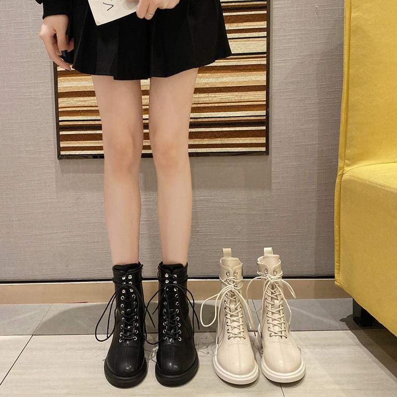 Giày Bốt Nữ Cổ Cao Thời Trang Anh Quốc