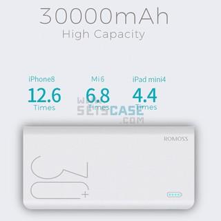 Pin Sạc Dự Phòng Romoss Sense 8 Plus 30000mAh QC Type C Cao Cấp