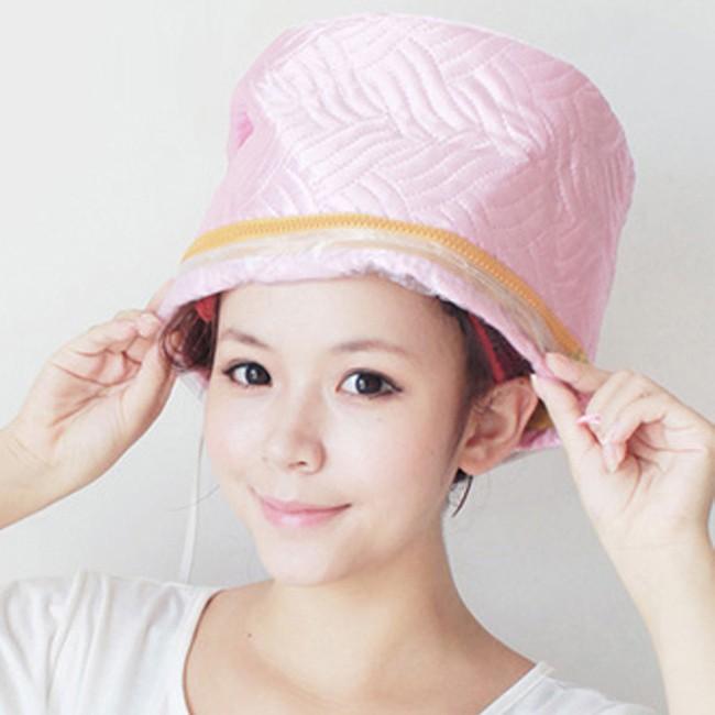 Mũ hấp tóc 3 mức nhiệt màu hồng (ảnh thật)