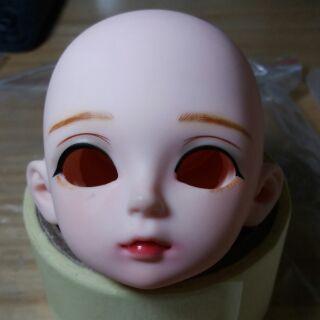Đầu búp bê bjd 1/3 vòng đầu 24cm tặng kèm mắt