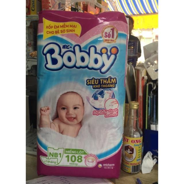 Miếng lót sơ sinh Bobby newborn 1 (108 miếng).