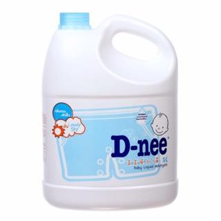 Nước giặt dnee can màu xanh 3000ml