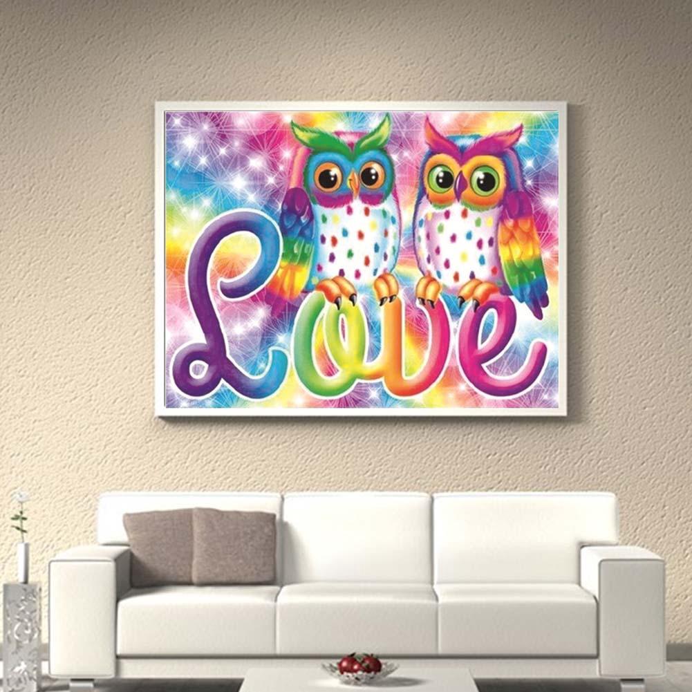 Diamond Embroidery Beautiful Cartoon RFID Blocking 5D Art Painting Owl