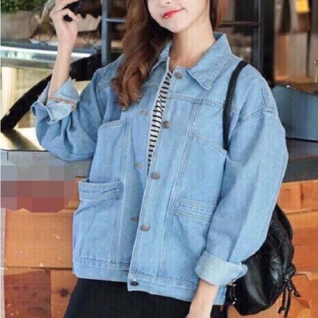[FREESHIP 150] Áo Khoác Jeans Nữ 4 Túi OHS523