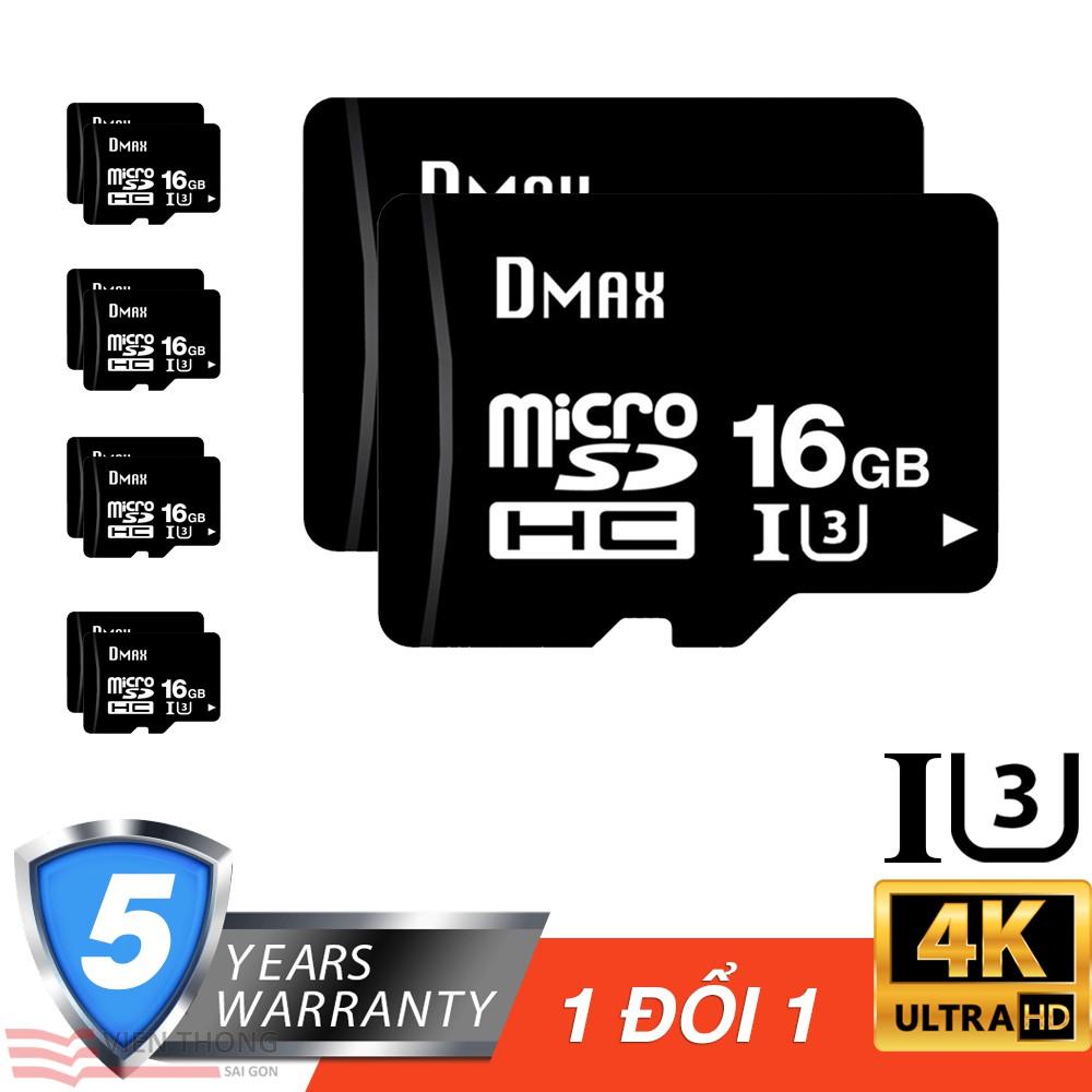 Bộ 10 Thẻ nhớ 16Gb tốc độ cao U3, up to 90MB/s Dmax Micro SDHC - Bảo hành 5 năm - 2772966 , 1084340597 , 322_1084340597 , 1690000 , Bo-10-The-nho-16Gb-toc-do-cao-U3-up-to-90MB-s-Dmax-Micro-SDHC-Bao-hanh-5-nam-322_1084340597 , shopee.vn , Bộ 10 Thẻ nhớ 16Gb tốc độ cao U3, up to 90MB/s Dmax Micro SDHC - Bảo hành 5 năm