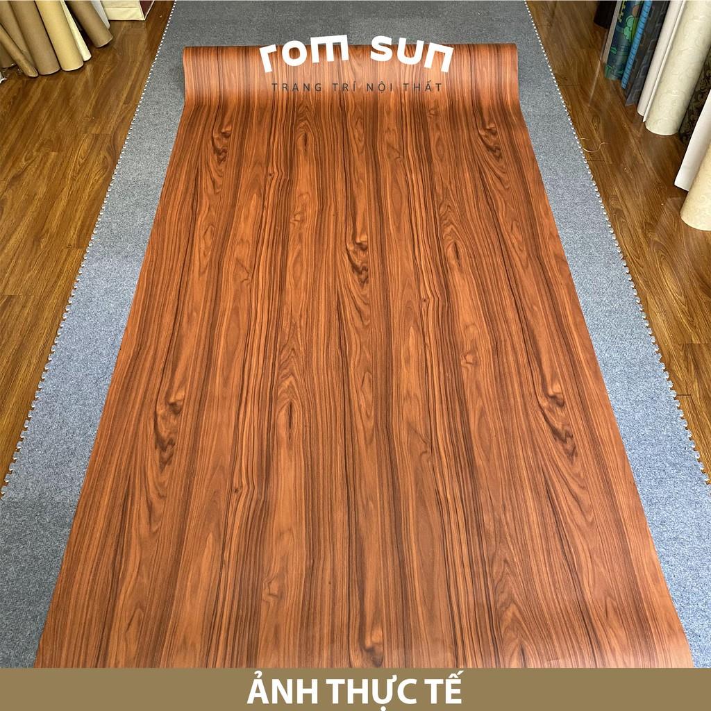 Giấy dán tường giả gỗ khổ 60cm, 1m2 dán phòng ngủ 3D - Decal miếng dán  trang trí tường hàn quốc cao cấp