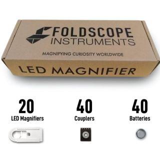 [Whole sales] BỘ ĐÈN LED FOLDSCOPE cho kính hiển vi giấy – LED MAGNIFIER KIT