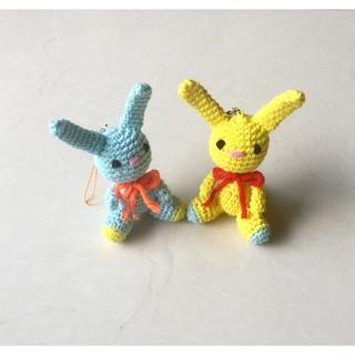 Thú bông- Combo hai bé thỏ Cotton- Handmade- @bellascrochet_corner