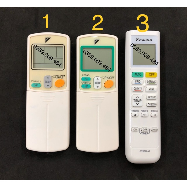 Điều khiển điều hoà DAIKIN - Remote máy lạnh DAIKIN