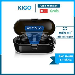 Tai nghe bluetooth 5.0 không dây nhét tai mini thể thao gaming pin trâu đèn LED hiển thị phần trăm pin Kigo P14 thumbnail
