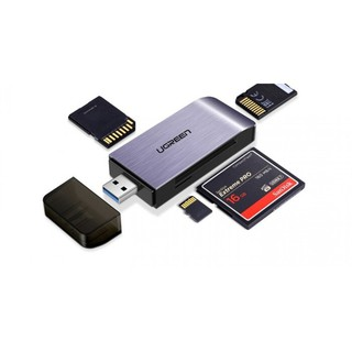 [Mã ELFLASH5 giảm 20K đơn 50K] Đầu đọc thẻ nhớ SD/TF/CF/MS chuẩn USB 3.0 Ugreen 50541 chính hãng