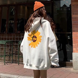 Áo hoodie nỉ thêu bông cúc M312 [Kèm hình thật]