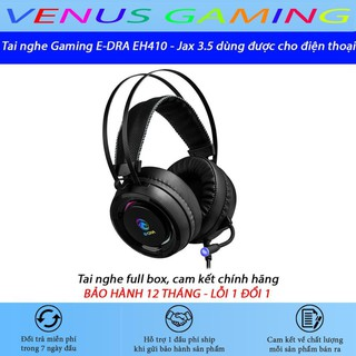 Tai nghe chụp tai E-DRA 410 PRO – Đèn led RGB siêu sáng – Dùng được cho điện thoại – Bảo hành 24 tháng – Lỗi 1 đổi 1