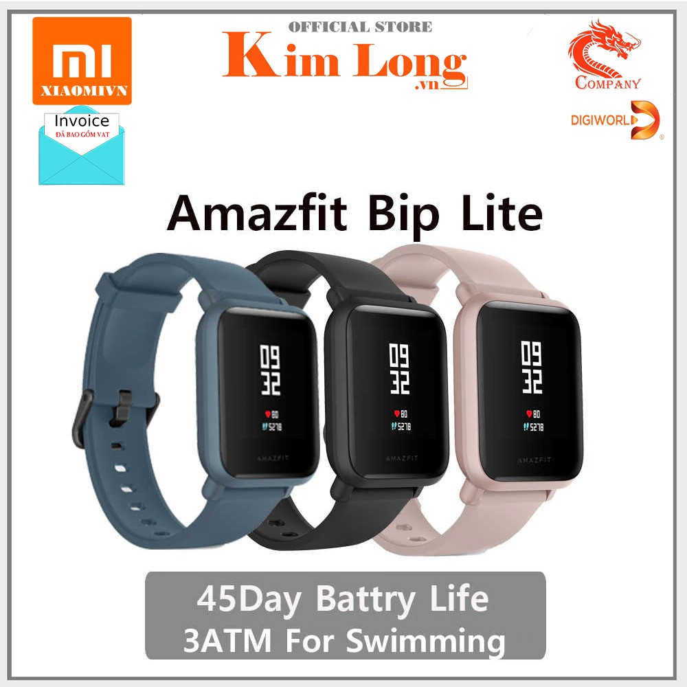 Vòng đeo tay thông minh Xiaomi Amazfit Bip - chính hãng