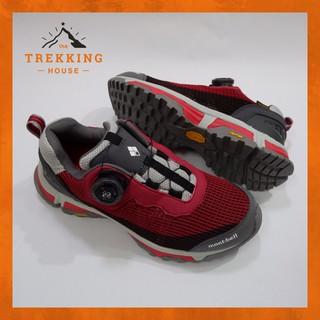 Giày leo núi trekking chống thấm nước Montbell, Giày phượt dã ngoại outdoor Trắng Đỏ