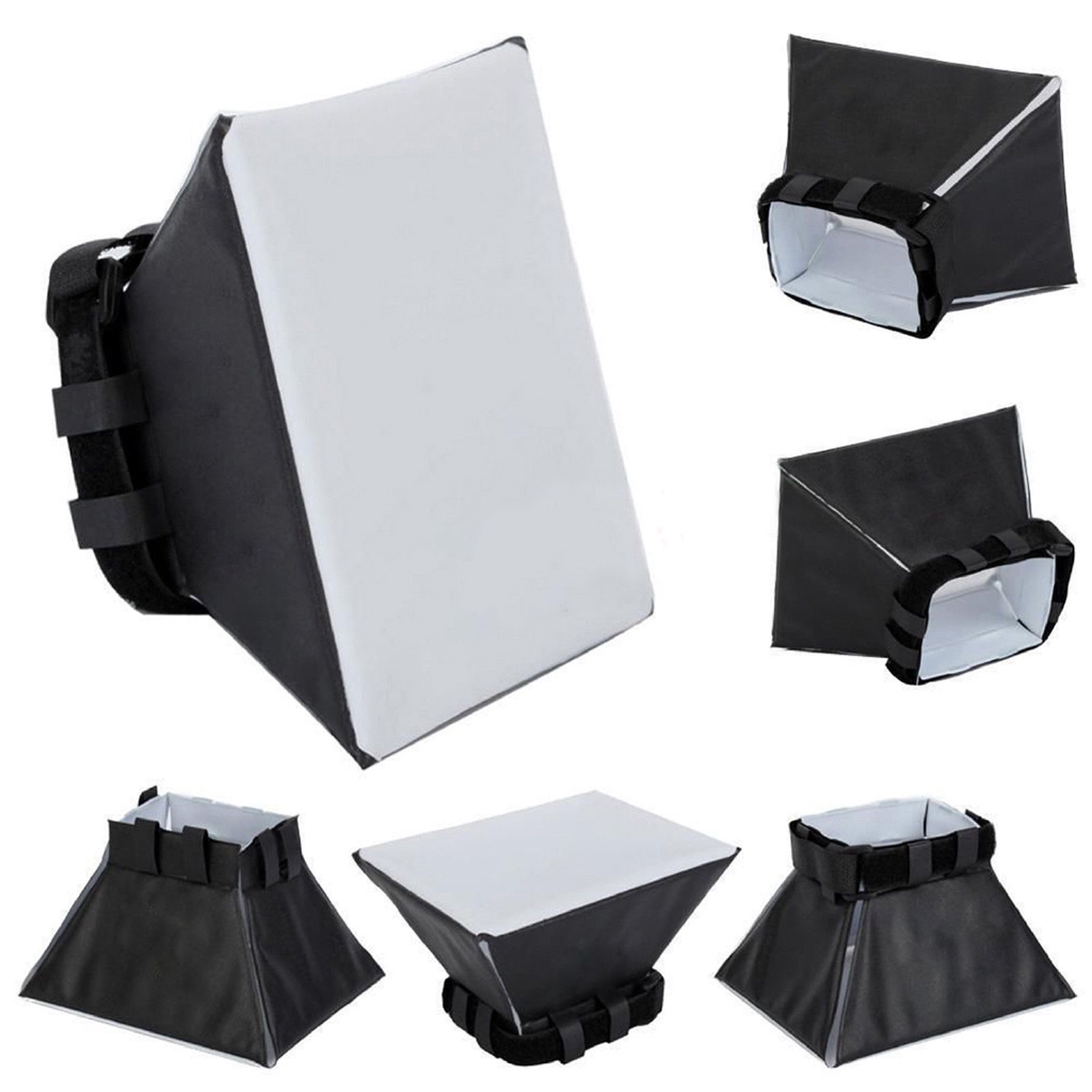 Universal  Softbox Flash Diffuser For Camera Nikon Sony Light Soften Foldable