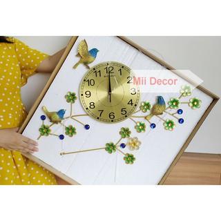 Đồng hồ con chim DH9122 - Đồng Hồ Treo Tường Công Phượng - KT: 60x66cm