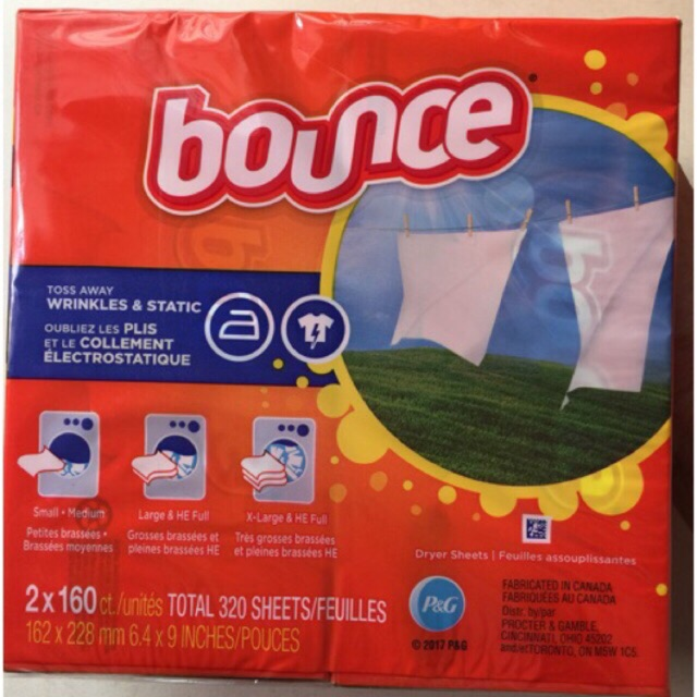 Combo 7 hộp giấy thơm Bounce 160 tờ