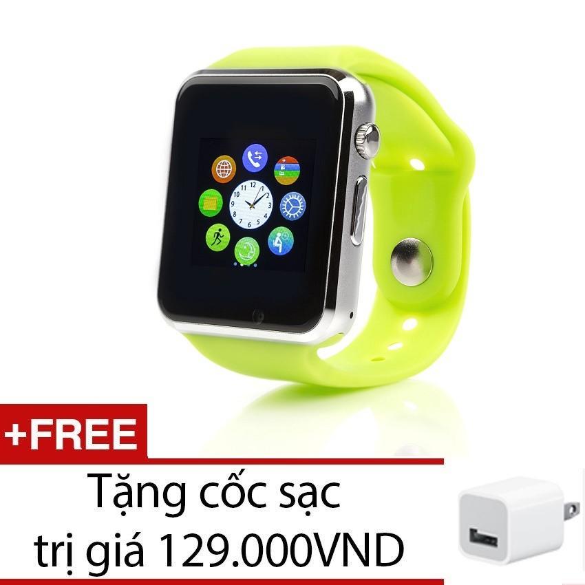 Đồng hồ thông minh Smartwatch Smart W88 (Xanh lá) + Tặng 1 cốc sạc