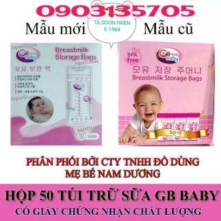 (XẢ KHO)COMBO 5 HỘP TRỮ SỮA GB BABY HÀN QUỐC 250ML HỘP 50 TÚI