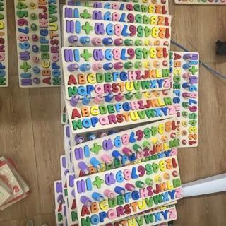 Bộ đồ chơi ghép chữ và số 4in1