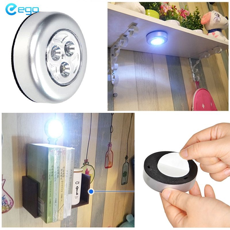Home*COD Mini Wireless Infrared Ceiling Night Light Lamp DIY Night Lights Lamp