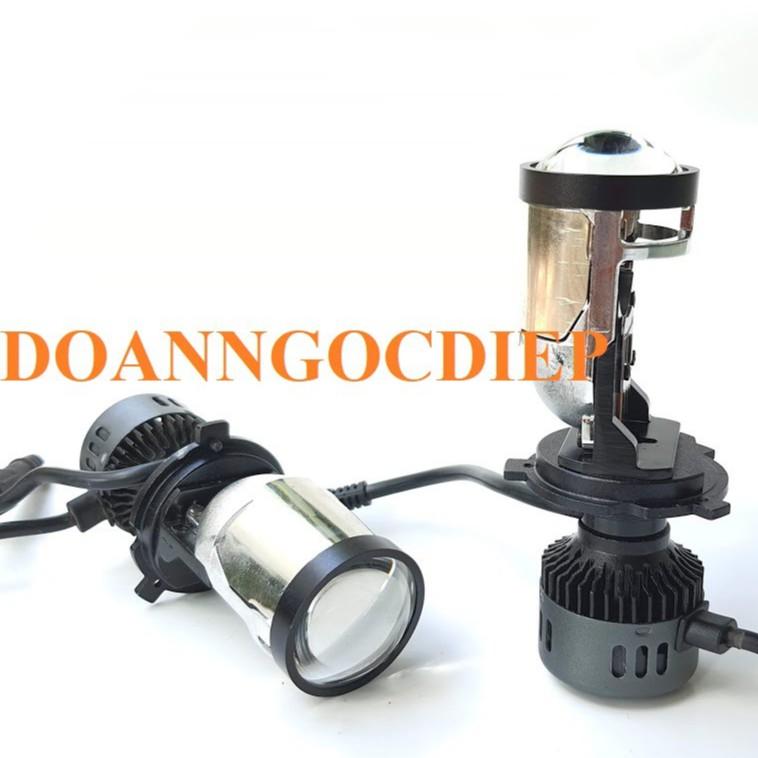 Đèn led bi cầu mini chân h4 RTD M01B chân h4, giá rẻ có nắp chắn sáng chống chói,có video test, giá 1 bóng