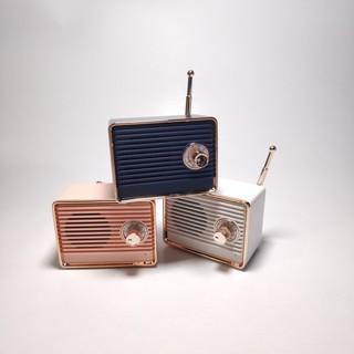 Loa di động mini hình radio cổ điển - kết nối bluetooth - ảnh chụp thật