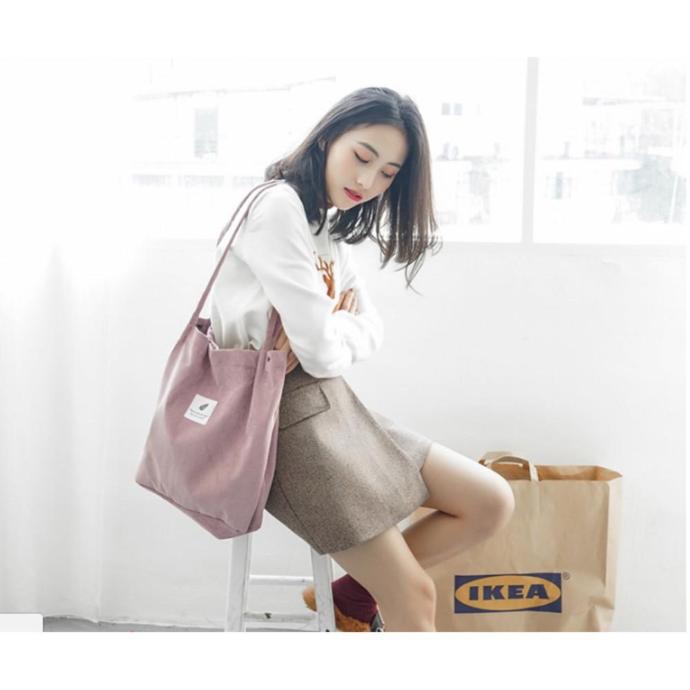 Túi nữ nhung đeo vai