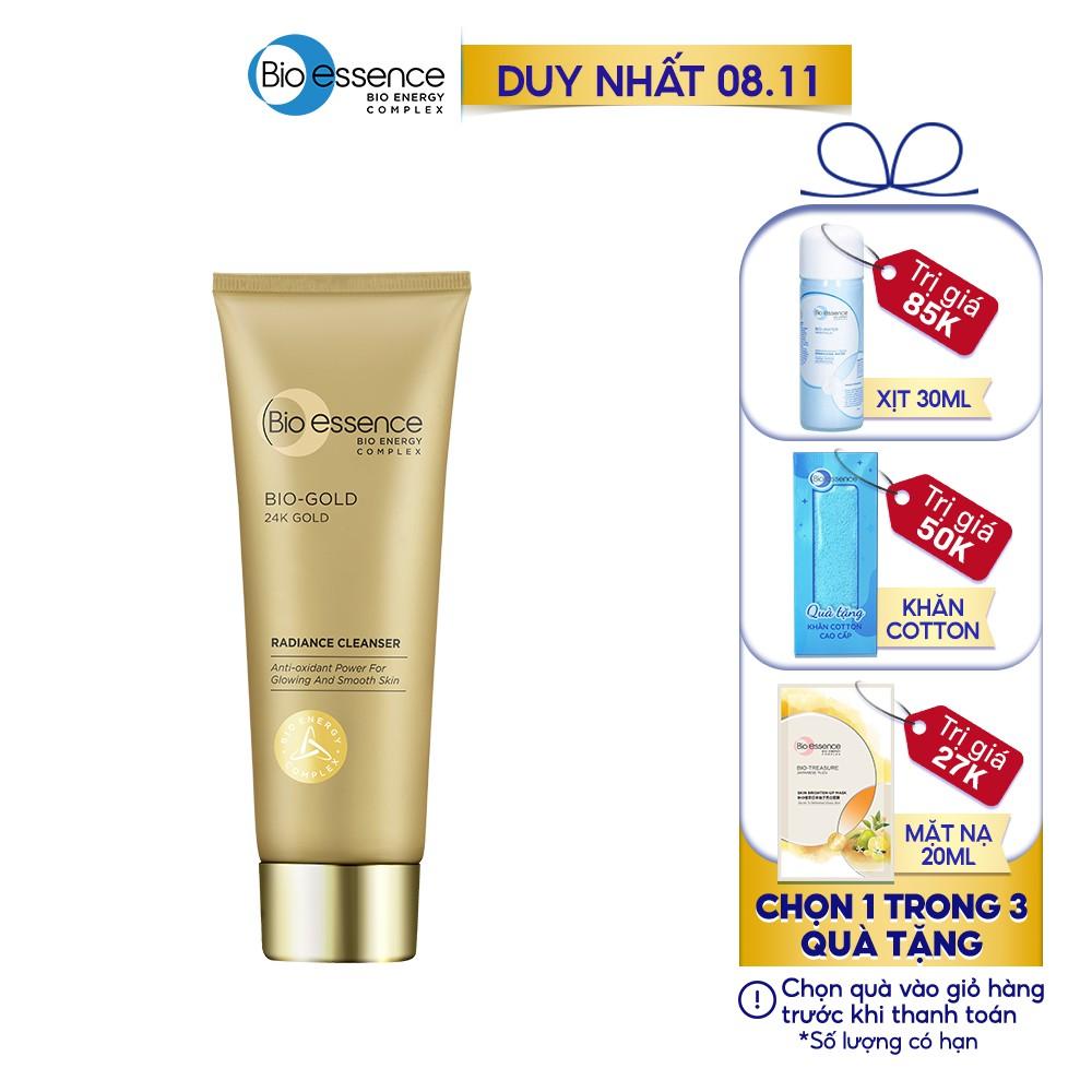 Sữa rửa mặt ngừa lão hóa Bio-Essence Bio-Gold Cleanser chiết xuất vàng 24k 100g