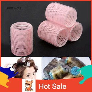 Wi 6 Pcs Random Color Same Size Hot Grip Cling Hair Styling Roller Curler Tool thumbnail