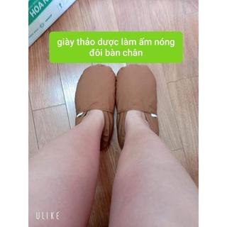 giày thảo dươc chườm nóng chân