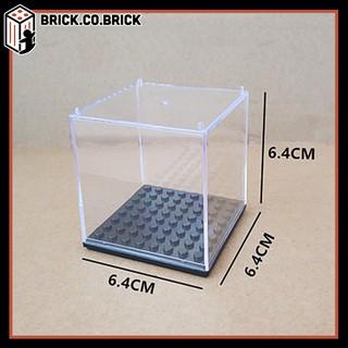 Hộp vuông trưng bày lego minifigures trong suốt