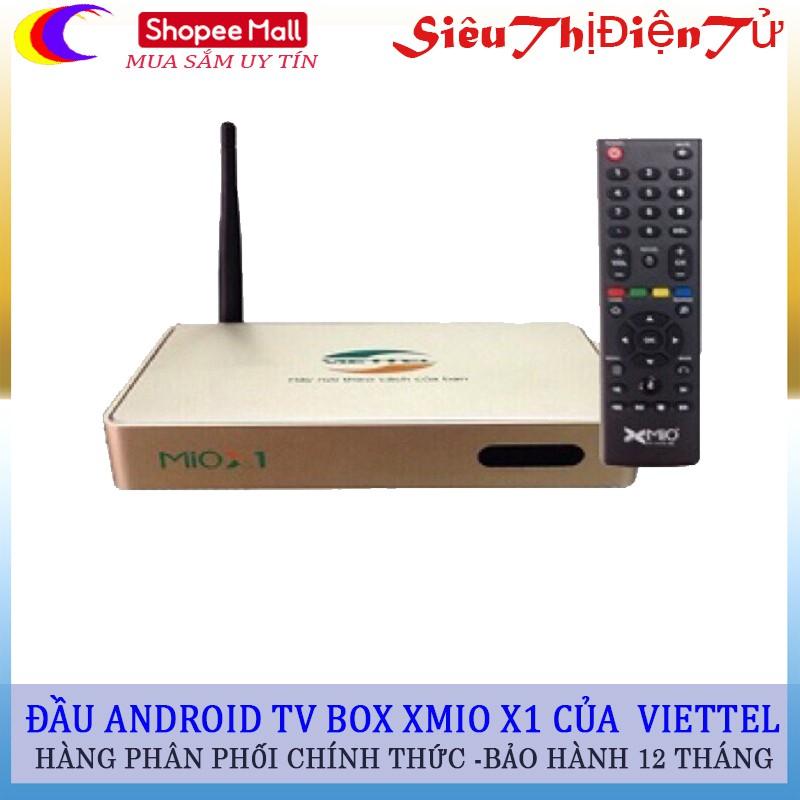 ANDROID TV BOX XMIO X1 chính hãng Viettel