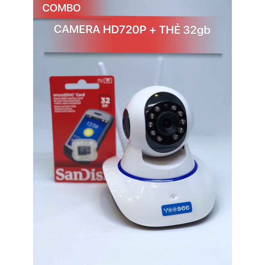 Camera IP YooSee 720P - Tặng thẻ nhớ 32gb
