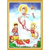 Phật Bà Cùng Tiên Đồng Và Long Nữ