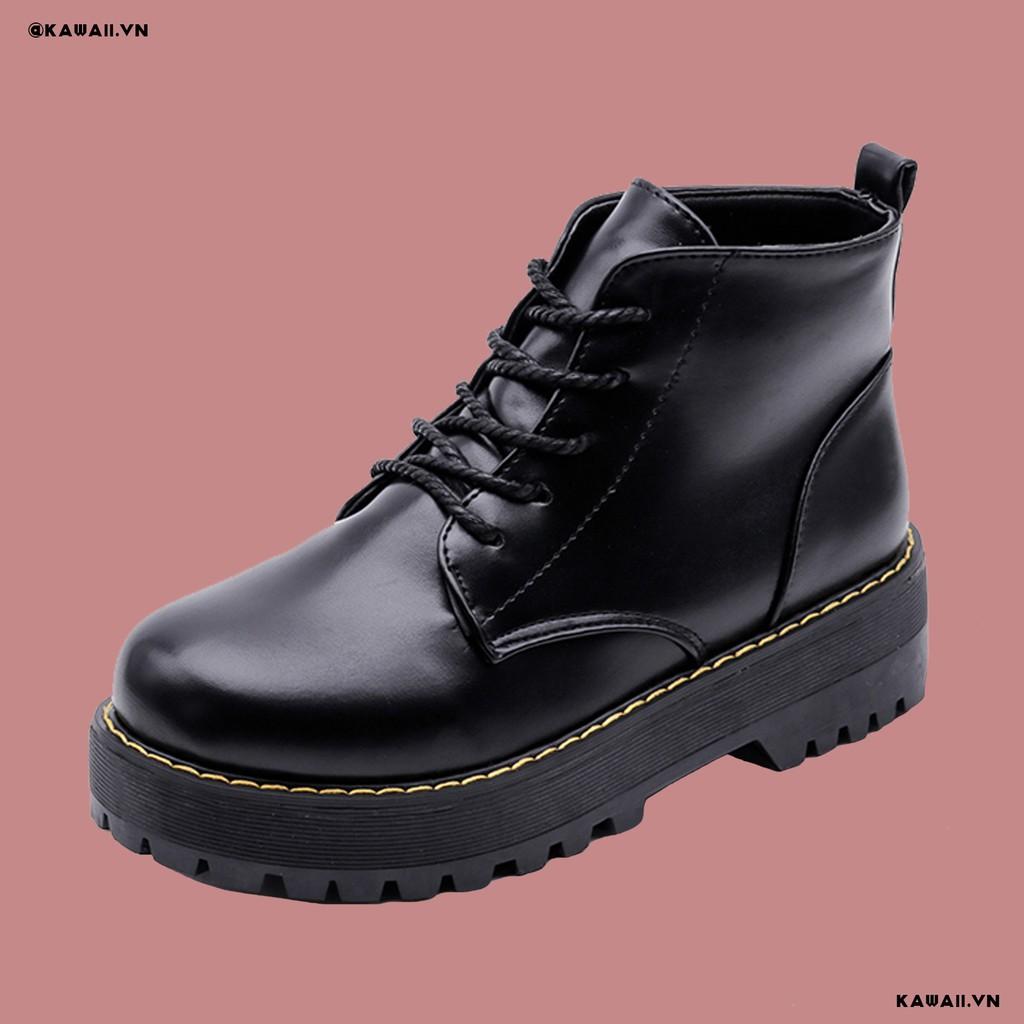 Giày BASIC BOOTS cao cổ đế 4cm chất da cao cấp (Ảnh thật shop tự chụp)