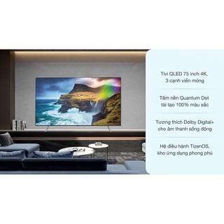 Smart Tivi QLED Samsung 4K 75 inch QA75Q75R ( Hàng tồn kho Bảo hành chính hãng)