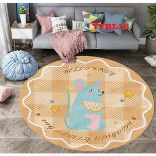 Thảm tròn Bali 5D nhập khẩu cao cấp, thảm phòng khách, phòng ngủ chống trượt họa tiết sắc nét TTBL18