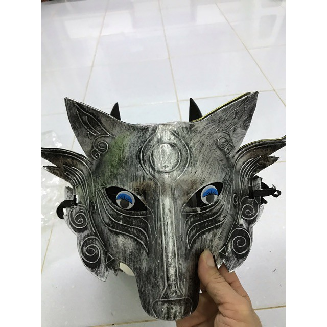 Mặt nạ chó sói ,(vàng ,xám shop thebaipubg