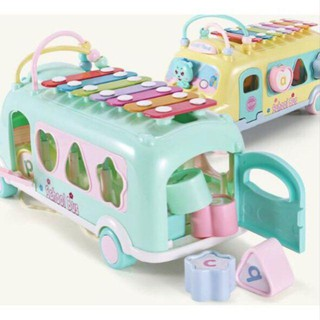 Xe Bus có nhạc thả khối cho bé