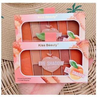 Set Phấn mắt - Phấn má 10 màu Kiss Beauty Tone Cam Cực xinh (8 màu mắt và 2 màu má) thumbnail