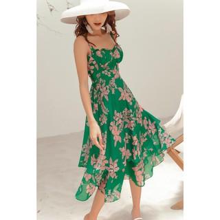 Đầm váy maxi 2 dây hai tầng họa tiết DDC0011 20AGAIN thumbnail