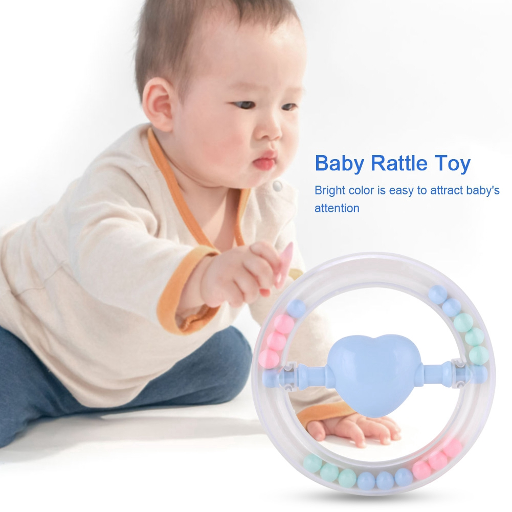 Goonshopping Baby Child Newborn Plastic Shaking Bell Rattle Teether Teething Toy 0-12 months 13-24 months Educational Mu