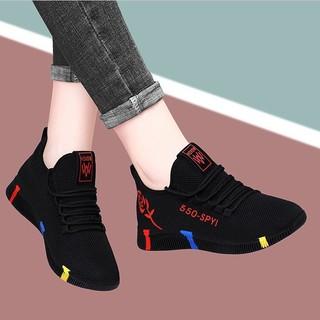 Giày Thể Thao Nữ Mùa Xuân Và Mùa Thu Mềm Sinh Viên Hoang Dã Giày Chạy Bộ Chống Trượt Sinh Viên Bình Thường Giày Lưới Tho thumbnail