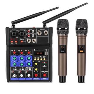[ Xả Kho ] Combo Trọn Bộ Mixer G4 Bluetooth – Tặng Kèm 2 Micro Không Dây ,Bàn Mixer G4 Live Stream | Karaoke