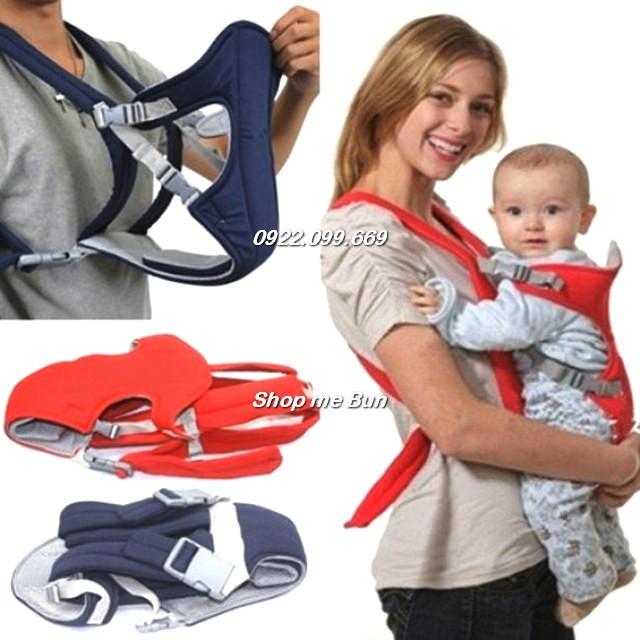 Địu 4 tư thế bền, chắc, an toàn cho bé